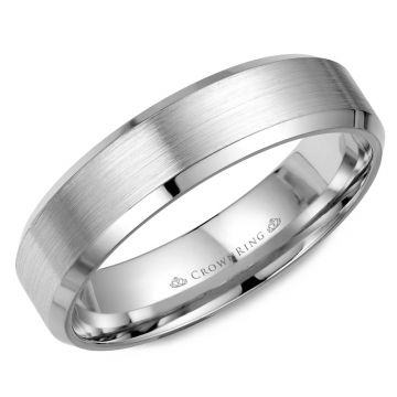 CrownRing 14k White Gold Classic 5mm Wedding Band