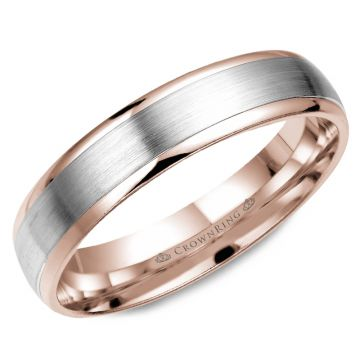 CrownRing 14k White Gold Classic 4mm Wedding Band