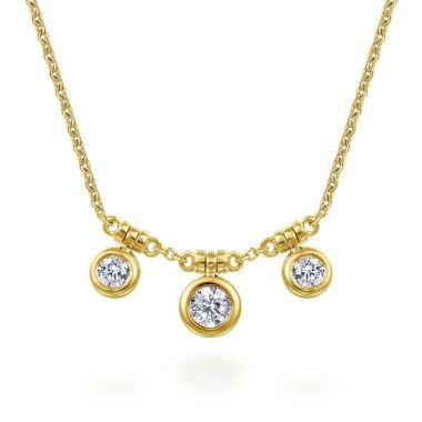 Gabriel & Co. 14k Yellow Gold Lusso Diamond Necklace