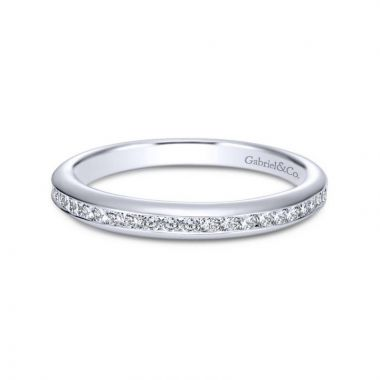 Gabriel & Co. 14k White Gold Contemporary Eternity Wedding Band